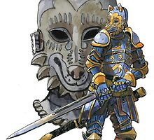 The Knight with a Canine Helm by TFreyArt