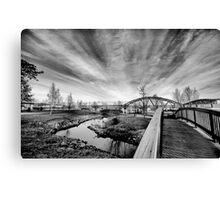 Riverpark HDR BW Canvas Print