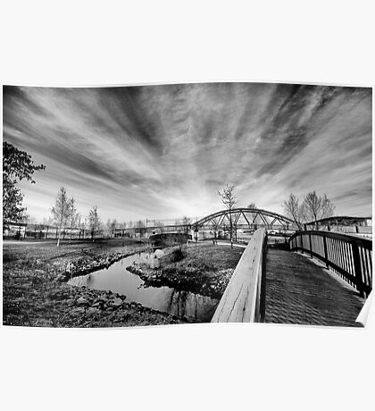 Riverpark HDR BW Poster