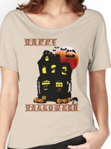 Happy Halloween Mansion  Women's Relaxed Fit T-Shirt