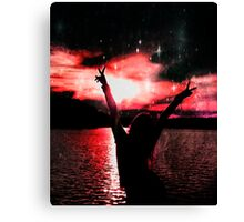 Sunset and Peace Canvas Print