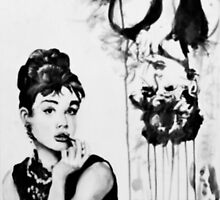 A portrait and a deconstruction of Audrey Hepburn by warringtonse