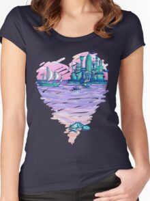 Blue CIty Violet Sea Women's Fitted Scoop T-Shirt