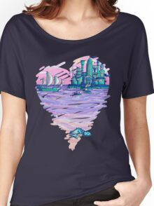 Blue CIty Violet Sea Women's Relaxed Fit T-Shirt
