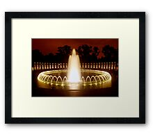 Washington DC - WWII Memorial Framed Print