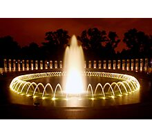 Washington DC - WWII Memorial Photographic Print
