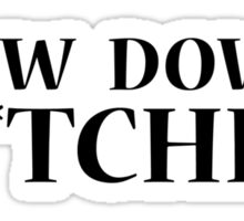 bow down b*tches Sticker