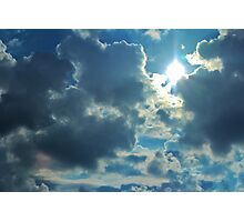 Sun Peeping Out Photographic Print