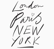 London. Paris. New York. Kids Clothes