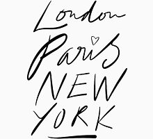 London. Paris. New York. Womens Fitted T-Shirt