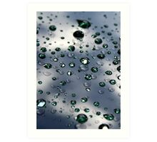 Raindrops On My Windshield Art Print