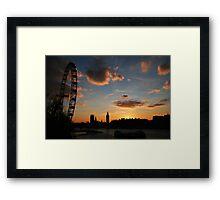 London's getting tired Framed Print