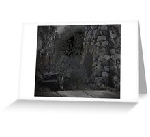 Junk Chair and Fireplace, Llano Ruins Greeting Card