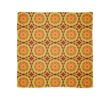 Golden Geometric Mandala Pattern 1 Scarf