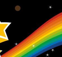 Rainbow In Space Sticker