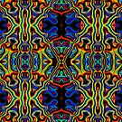 Tribal Visions Psychedelic Abstract Pattern 1 by Leah McNeir