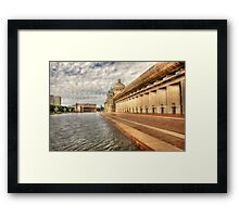Christian Science Plaza Pool Framed Print