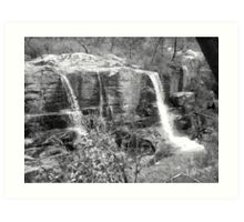 Turret Falls (Black&White) Art Print