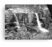 Turret Falls (Black&White) Canvas Print