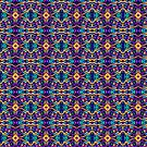 Tribal Visions Geometric Abstract Pattern 2 by Leah McNeir
