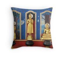 buddha images Throw Pillow