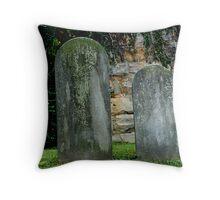 Halloween Headstones Throw Pillow