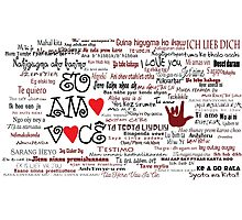 I love you in over 100 different languages! Photographic Print