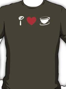 I Heart Tea Cups (Classic Logo) (Inverted) T-Shirt