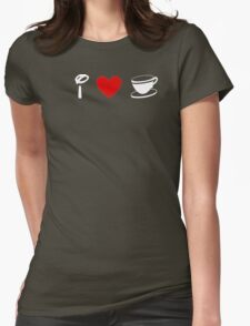 I Heart Tea Cups (Classic Logo) (Inverted) Womens Fitted T-Shirt