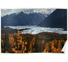 STOCK ~ Fall Surrounds Matanuska Glacier ~ Chugach Mountains  Poster
