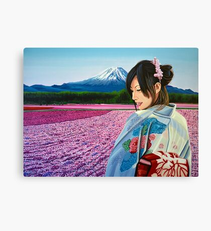 Spring in Japan Painting Canvas Print