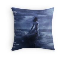 By the Sea - a Collaboration Throw Pillow