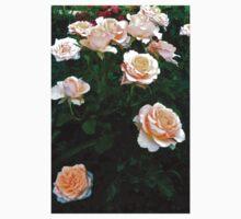 Peach Pink Rose Bunch One Piece - Short Sleeve