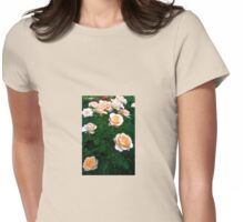 Peach Pink Rose Bunch Womens Fitted T-Shirt