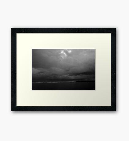 Storm Over Lake Wollumboola Framed Print
