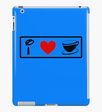 I Heart Tea Cups (Classic Logo) iPad Case/Skin