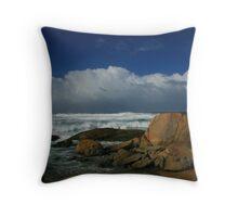 Lights Beach, High Seas Throw Pillow