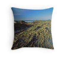 Rock Fishing Throw Pillow