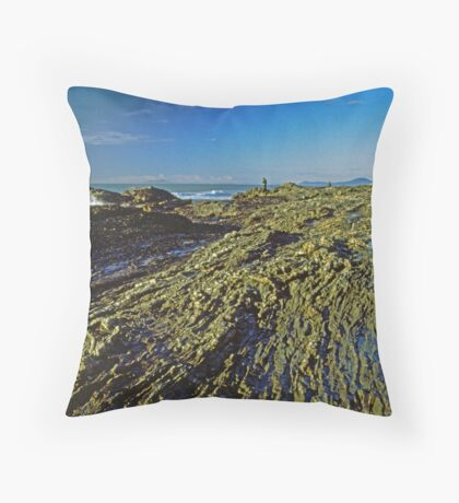 Rock Fishing Throw Pillow