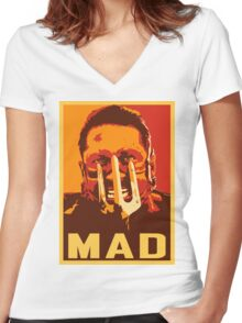 Max Rockatansky MAD (furycolor 2) Women's Fitted V-Neck T-Shirt