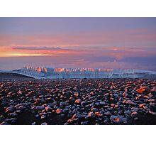 Sunrise on the glaciers of Mt Kilimanjaro, AFRICA. Photographic Print