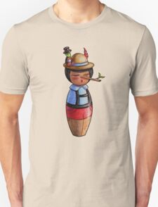 Kokeshi Pinocchio and Jiminy Cricket T-Shirt