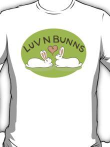 Hippity Hop - Green Bunny Design T-Shirt