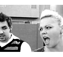 Sibling Rivalry Photographic Print