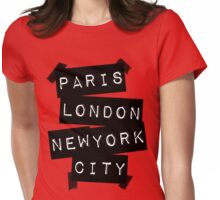 PARIS LONDON NEW YORK CITY Womens Fitted T-Shirt