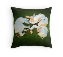 The Lady's Doing Throw Pillow