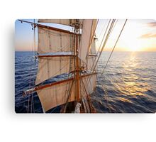 Sunset from the Mast Canvas Print