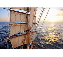 Sunset from the Mast Photographic Print