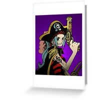 """One Piece: """"I'm Going to Be Queen of the Pirates!"""" Greeting Card"""