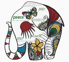 Peace Elephant Kids Clothes